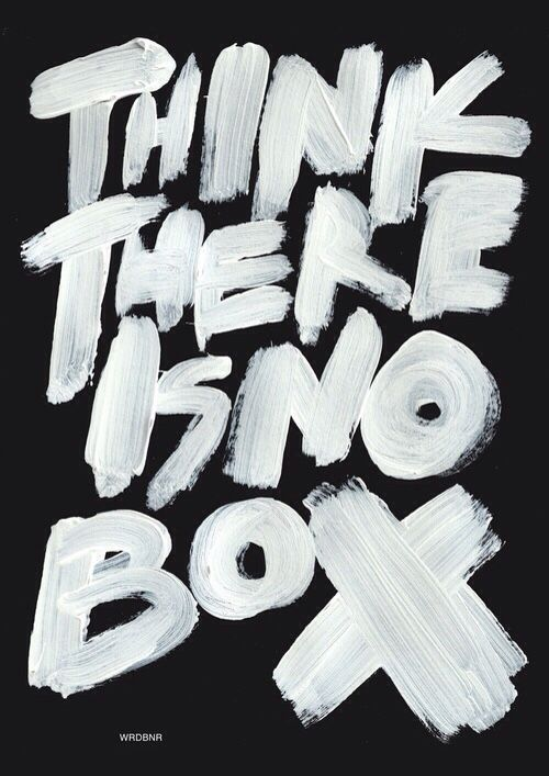 bold lettering: