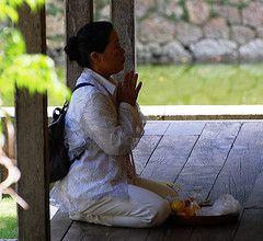 Prayer (Mszczuj) Tags: people woman cute girl japan female asian religious japanese costume asia pretty god folk faith prayer religion pray folklore historic chick attractive oriental orient buddah citizen buddist faithful