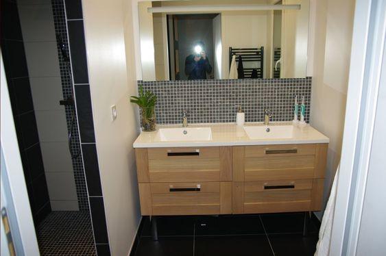 Salle de bain - salle d'eau 4.6m2 sols gris foncé - Gers (32) - décembre 2013
