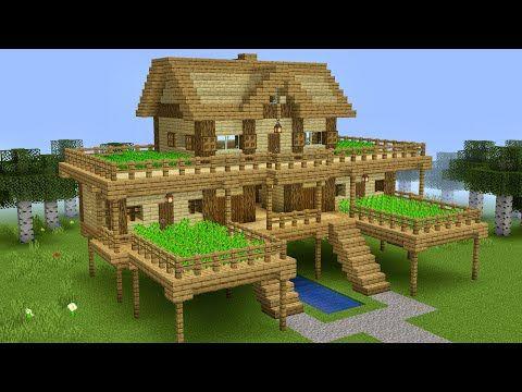 Minecraft How To Build A Survival Farm House Youtube Minecraft Buildings Minecraft Farm Easy Minecraft Houses