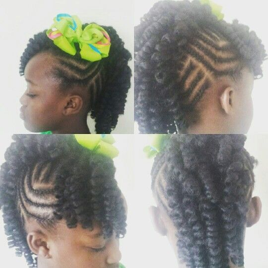 Crochet Mohawk : Kids Crochet Mohawk with Cornrows #Kenuscrochetbraids&more Cr...