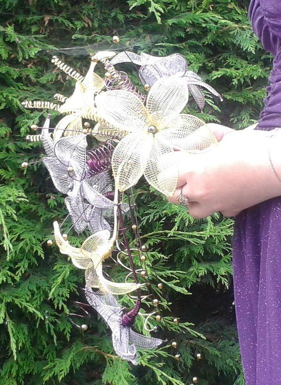 Exotic Beauty Keepsake flower Bouquet by MysticCoveJewellery