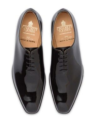 CROCKETT & JONES ALEX BLACK PATENT
