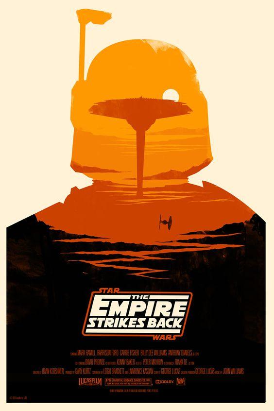 Posters de la trilogie Star Wars par Olly Moss Olly Moss Empire geek design bonus