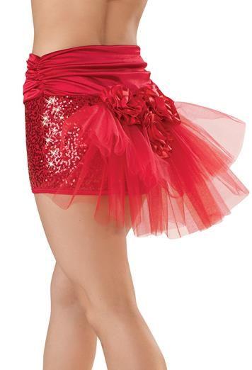 High Waisted Bustle Sequin Shorts | Balera™ 28.95 | Dance costumes ...
