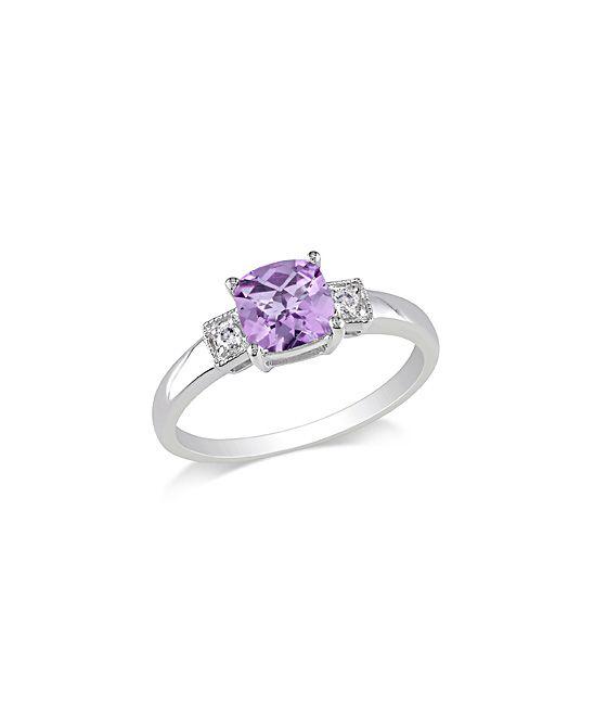 Amethyst & Diamond Ring. Aka my future wedding ring!