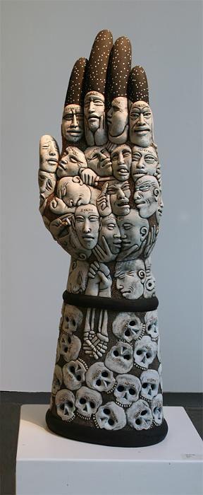 """Ephemera"" by Mark Messenger (ceramics) / Crocker Museum of Art Permanent Collection - Sacramento, California"