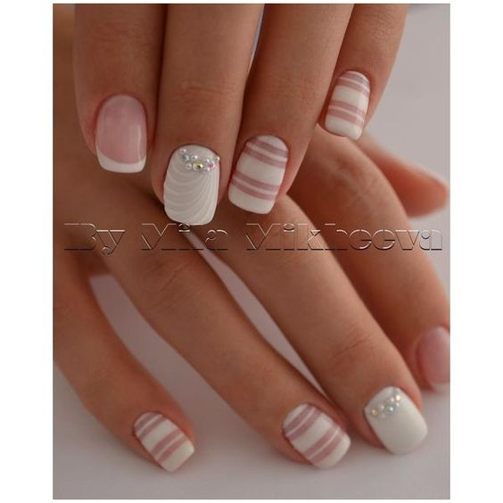 Маникюр. Дизайн ногтей. Art Simple Nail ❤ liked on Polyvore featuring beauty products, nail care and nail treatments