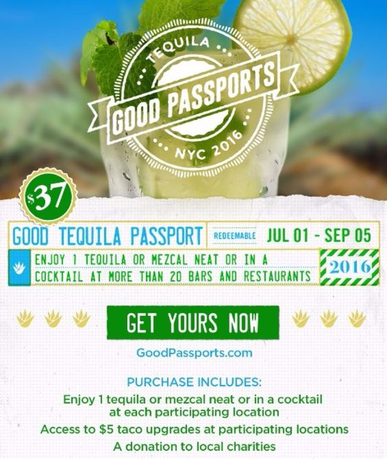 Get 21 Tequila & Mezcal Drinks for $37 With The NYC Good Tequila Passport 🍹!