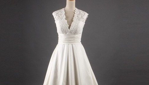 Custom make Vintage Wedding Dress A LINE Bridal Gown by wonderxue, $192.00