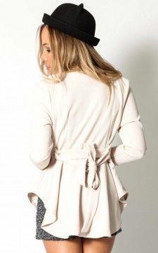 London Calling jacket in warm beige