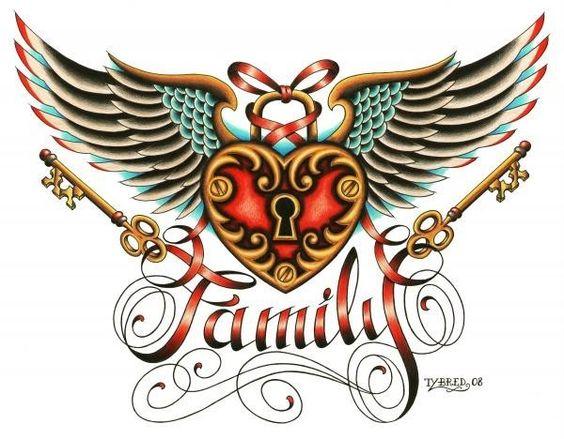 Tyler Bredeweg Family tattoo art canvas.