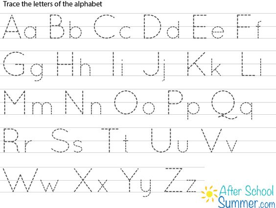 Preschool Printables...alphabet tracing sheet from owensfamily ...