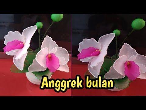 Diy How To Make Orchid Flowers From Stoking Tutorial Membuat