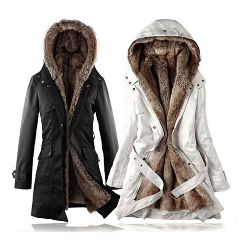 Hot! Faux fur lining women's fur Hoodies Ladies coats winter warm