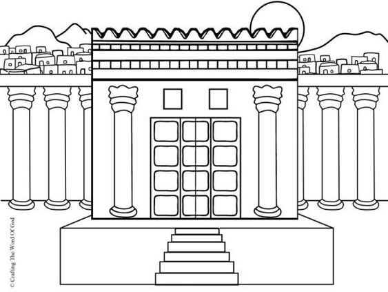 Solomons Temple Coloring Page Solomons Temple Sunday School