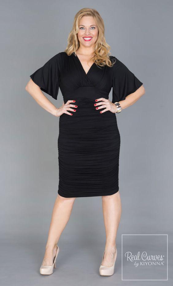 Rumor Dress in Black http://www.curvety.com/dresses-c1/party-dresses-c14/kiyonna-rumor-ruched-dress-in-black-p171
