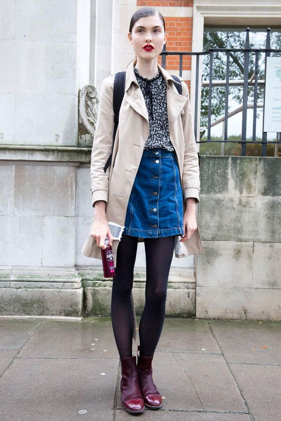 160 Off-Duty Model Style Moments from the Streets of Fashion Month | Model street style Skirts ...