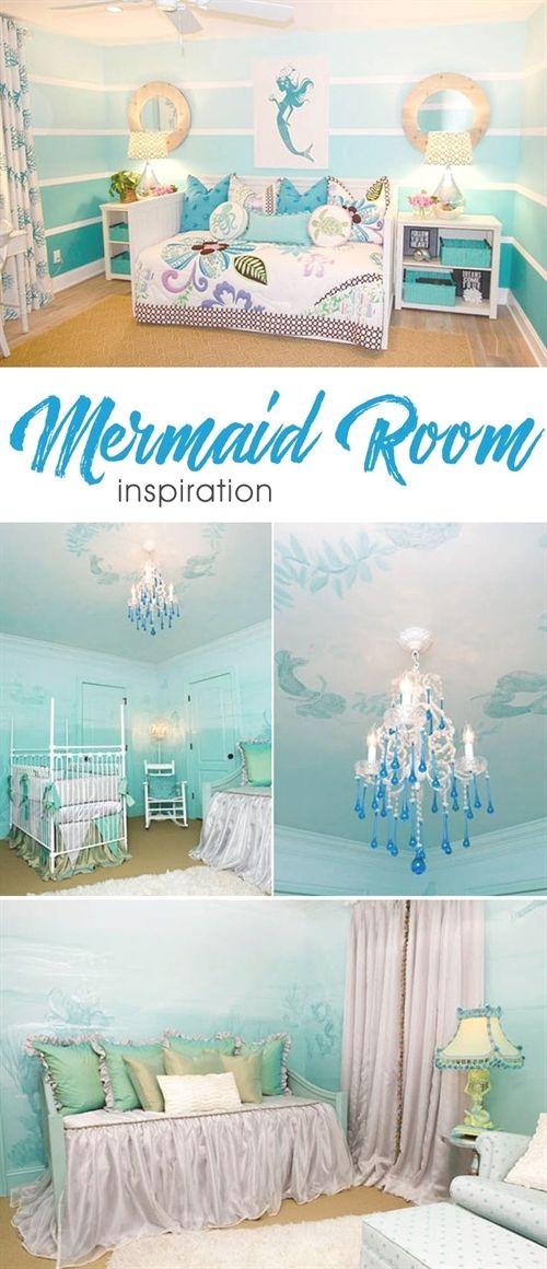 Mermaid Inspired Child S Room Mermaid Room Kid Room Decor