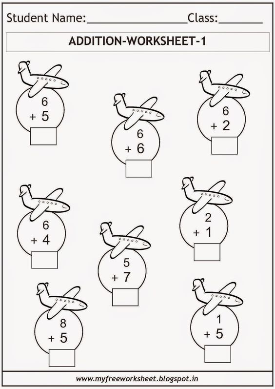 Free printable math worksheets for grade 1 kids Includes a – Free Maths Worksheets for Grade 1