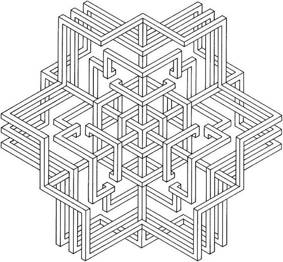 images of printable hard geometric coloring pages ...