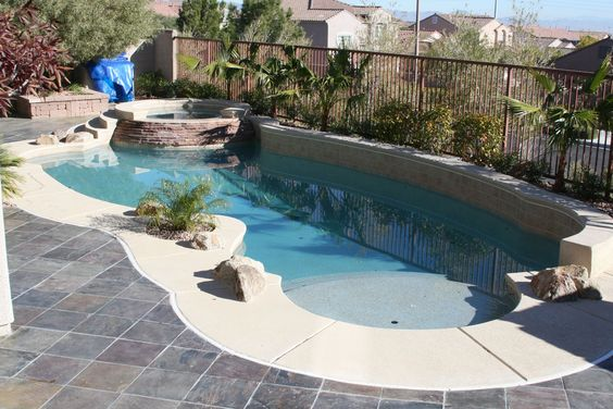 vintage house cleaning | Pool, Fabulous Stone Edge For Small Pool Designs With Usual Floortile ...