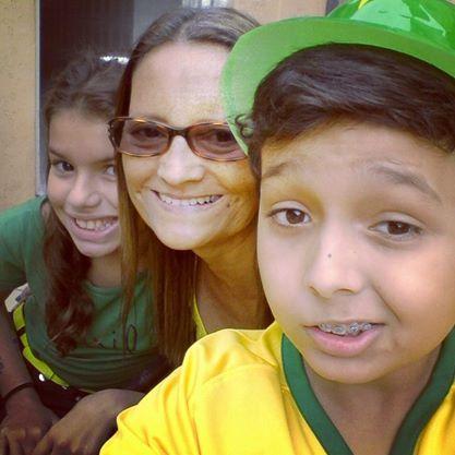 Com meus netos Ju e Rick