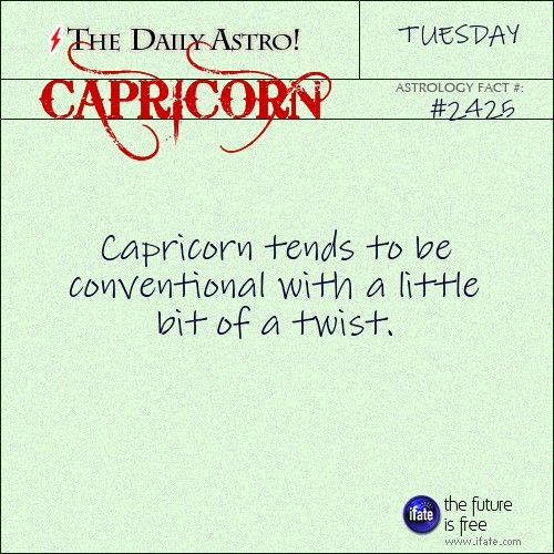 Daily Capricorn Astrology Fact: Think tarot readings are expensive?  Think again.  You can get a free one online now!   Visit iFate.com today!