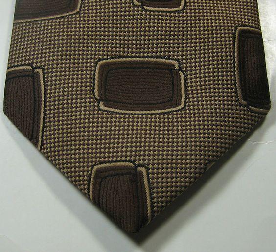 ULTRA RARE Rich Brown Ovals Geometric Vtg Tie Excellent RARE #unbranded #NeckTie #tie #vintage