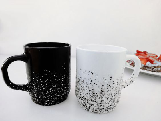 Tassen verschönern mit Nagellack