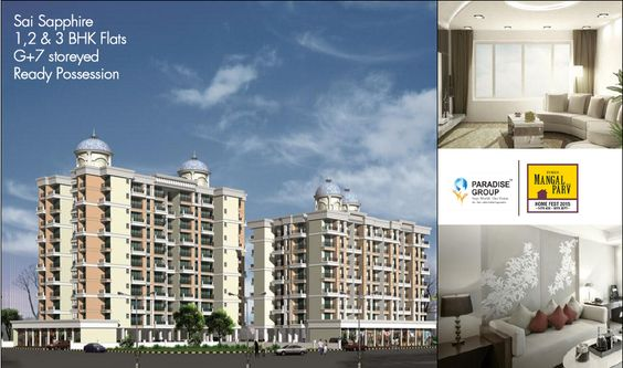 Book your dream home with Sai Sapphire It has 1.2 & 3 BHK flats. Ready Possession To know more about Sai Sapphire log on to : www.paradisegroup.co.in
