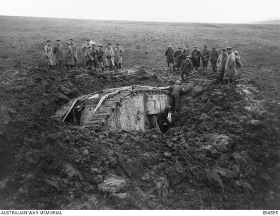 WW1; Tank purposefully buried to see if it could force itself free. -The Great…