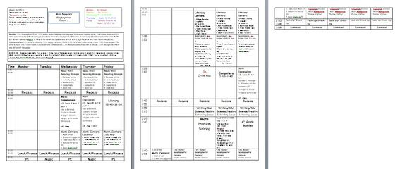 Miss Nguyen's Class: Lesson Plan Template I like that it shows the entire day, it would be a neat way to do lesson plans for tech ed if you had similar classes throughout the day.