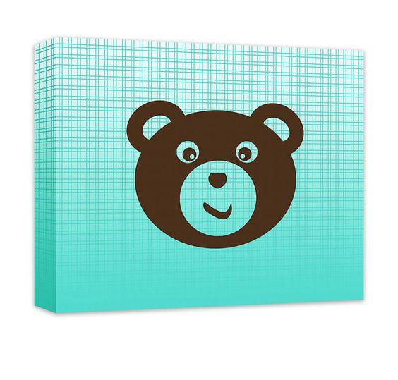 Teddy Bear I Children's Canvas Wall Art