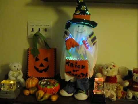 Fiber ghosts and halloween on pinterest for Fiber optic halloween decorations home