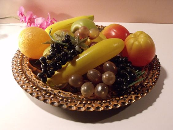 Vintage Artificial fake fruits still life. by HuntWithJoy on Etsy,: