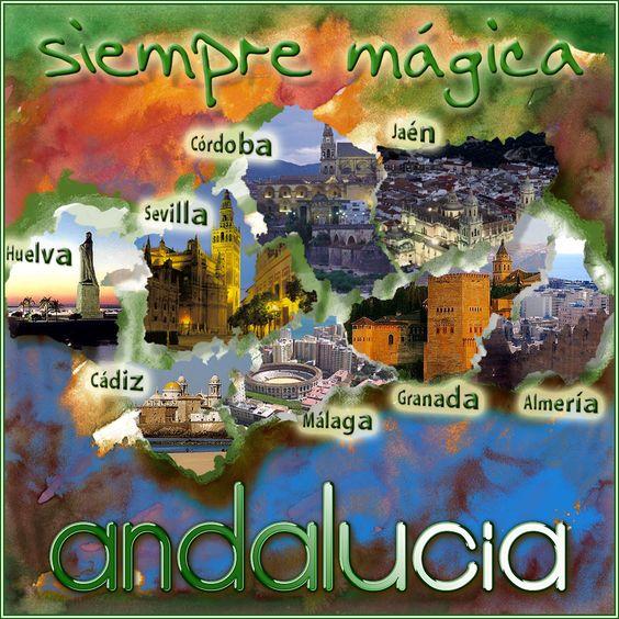 diseño gráfico de las ochos provincias andaluzas by diseclick.com