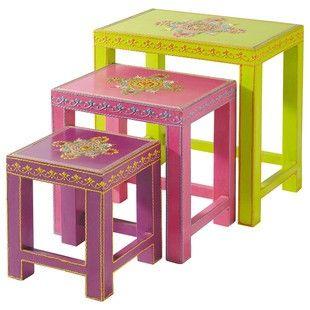 Drei Kinder-Tischchen zum Ineinanderschieben ROULOTTE  129€