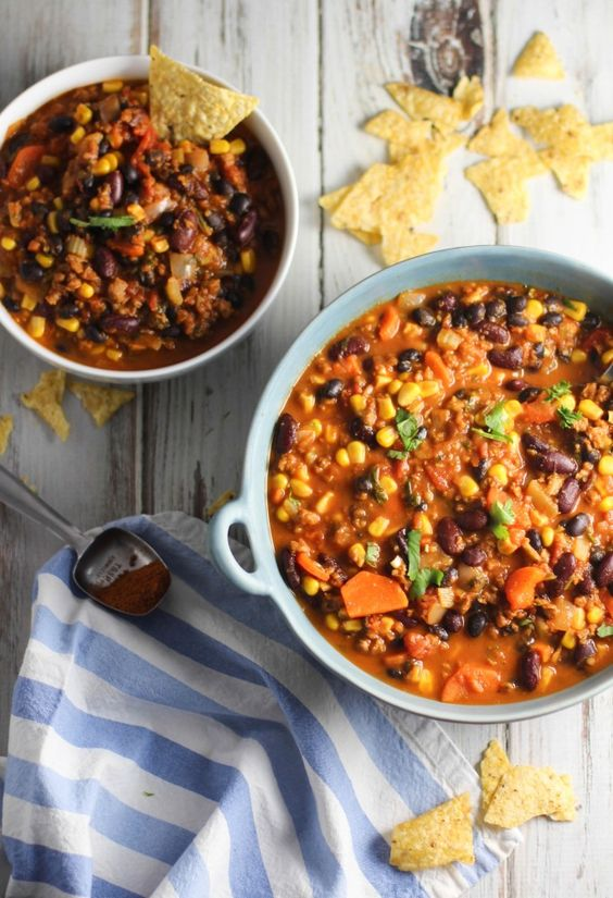 Ultimate Vegan Chili - a simple freezer meal!