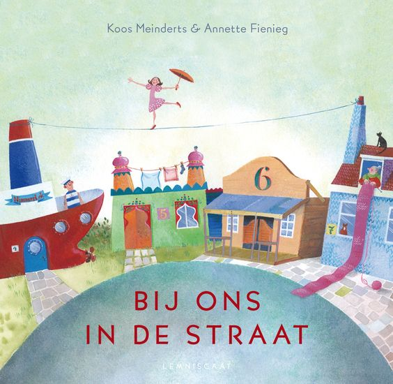 Bij ons in de straat, prentenboek van Koos Meinderts en Annette Fienieg. Bekroond met de Leespluim oktober 2012.