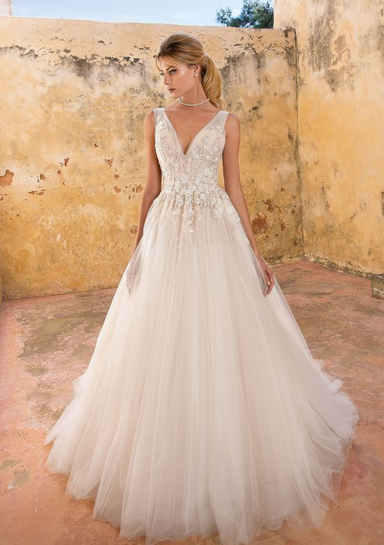 Style 88054 Ruched Tulle Bodice Ball Gown Wedding Dresses