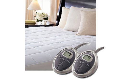 5 Sunbeam Queen Size Quilted Electric Heated Mattress Pad