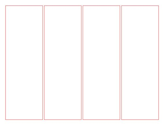 memorial bookmarks template free - blank bookmark template for word this is a blank