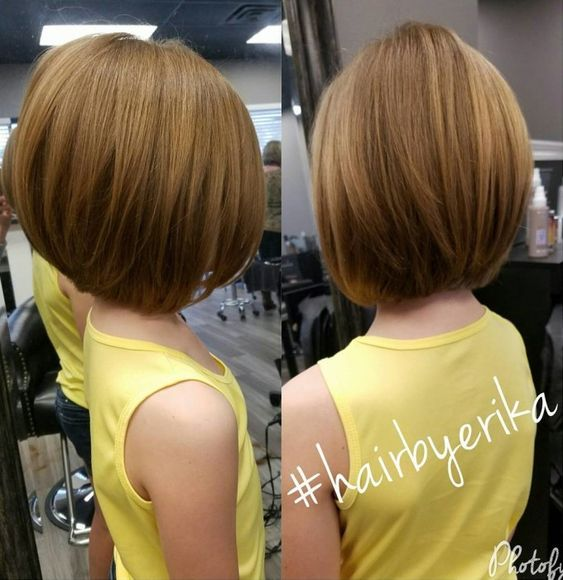 Little Girls' Layered Bob Haircut:
