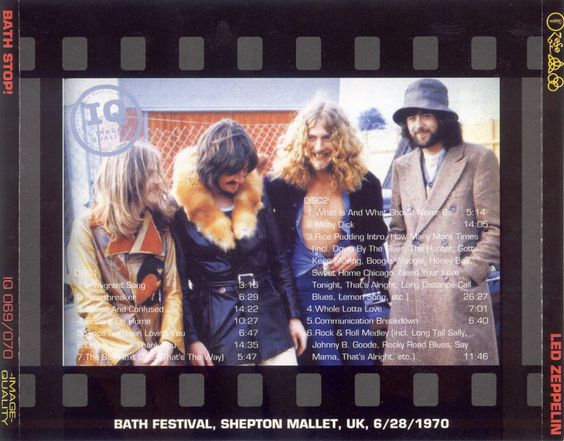 Led Zep  Bootleg.  June 28,70 Bath Festival. Zephead