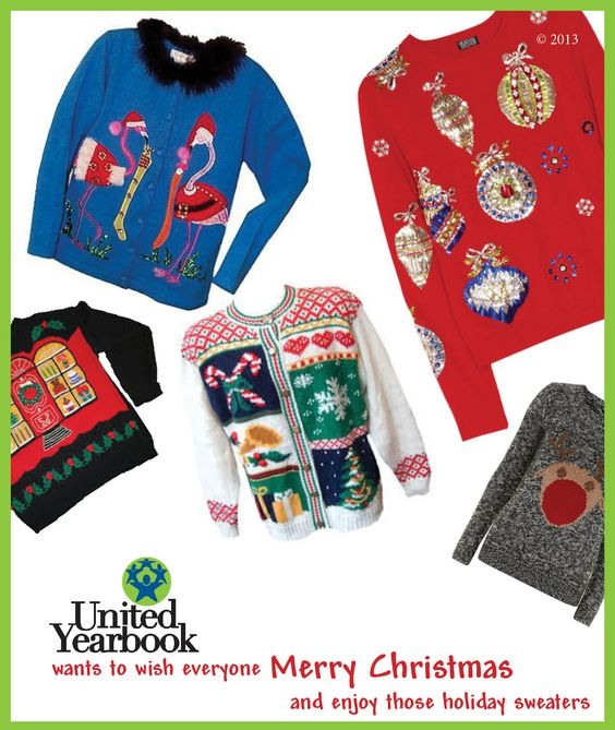 Show your holiday spirit and share your ugly Christmas sweater with us!   http://www.nationaluglychristmassweaterday.org/