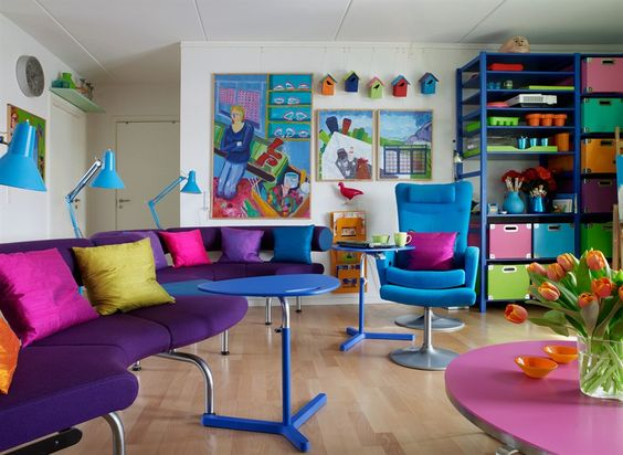 Colourful in small spaces