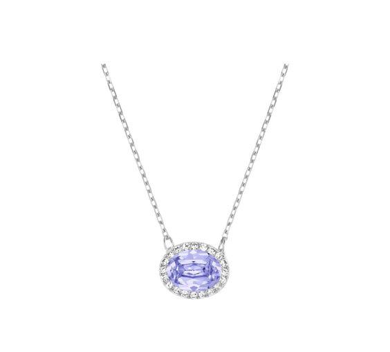 "Swarovski ""CHRISTIE"" Necklace * #Swarovski #Jewelry #Crystals #Oval #Necklace #SpringSummer2015 #MarianaCarmona #JewelleryDesigner #2015 #Purple"