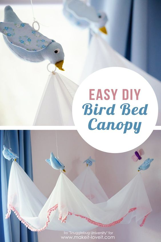 Easy DIY Bird Canopy....for above a BED! | via Make It and Love It: