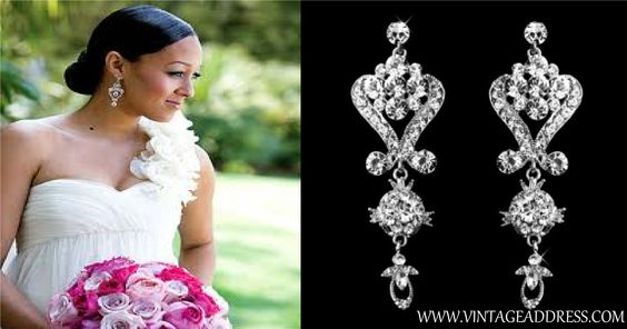 Get the look! - http://www.vintageaddress.com/Crystal_Glam_Earrings/p1143724_5245907.aspx
